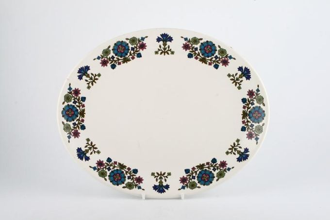 "Midwinter Country Garden Oval Plate / Platter 12"""