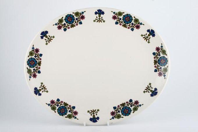 "Midwinter Country Garden Oval Plate / Platter No Rim 13 3/4"""