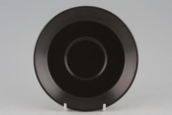 "Midwinter Graphic Tea Saucer All Black 5 5/8"""