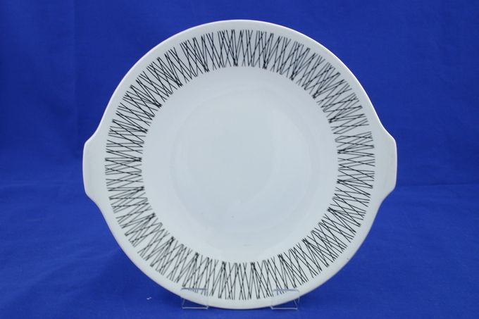 """Midwinter Graphic Cake Plate Round 10 1/4"""""""