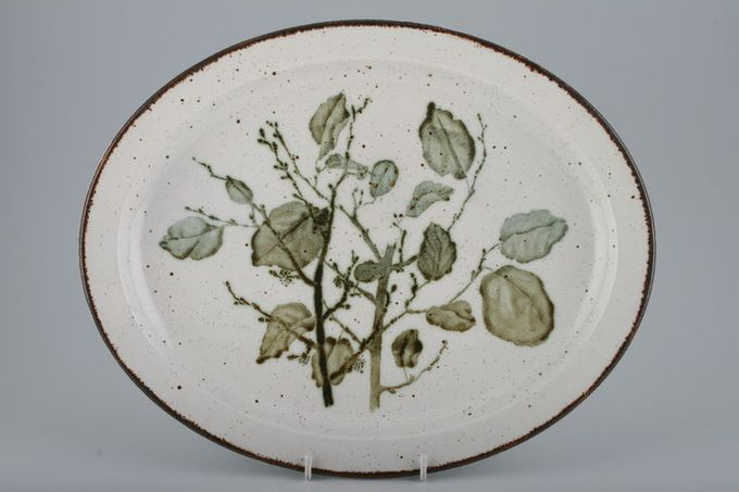 "Midwinter Greenleaves Oval Plate / Platter 13 1/2"""