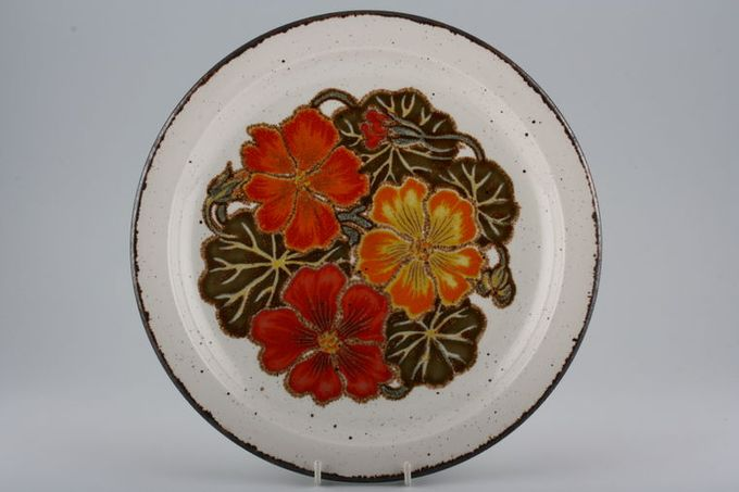 "Midwinter Nasturtium Dinner Plate 10 3/8"""
