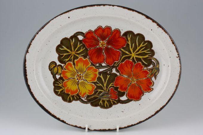 """Midwinter Nasturtium Oval Plate / Platter 12"""""""