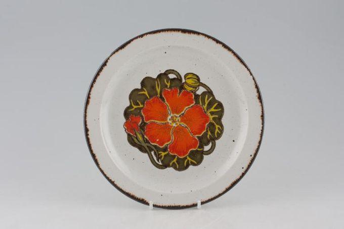 """Midwinter Nasturtium Salad/Dessert Plate One Flower in centre 8"""""""