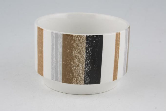"Midwinter Queensbury Stripe Sugar Bowl - Open (Tea) 3 3/4"""