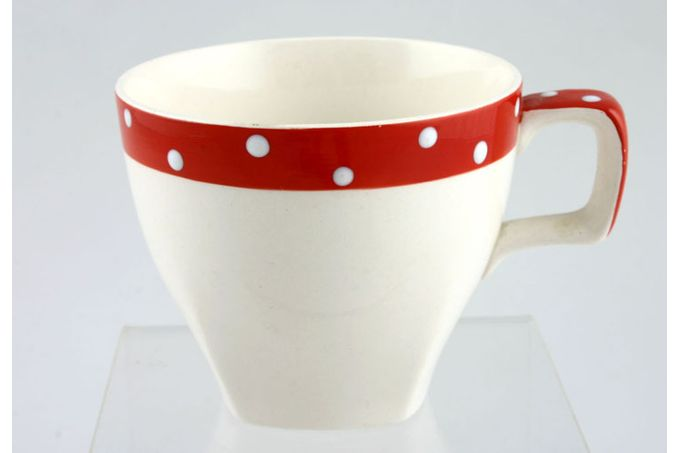 """Midwinter Red Domino Teacup 3 1/4 x 2 3/4"""""""