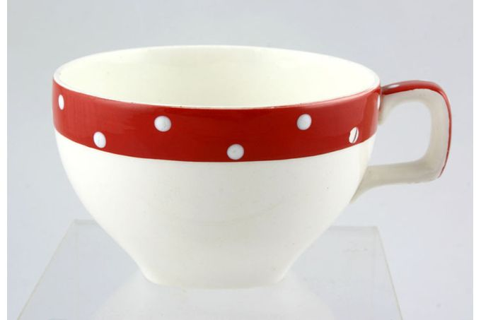 """Midwinter Red Domino Teacup 3 5/8 x 2 1/4"""""""