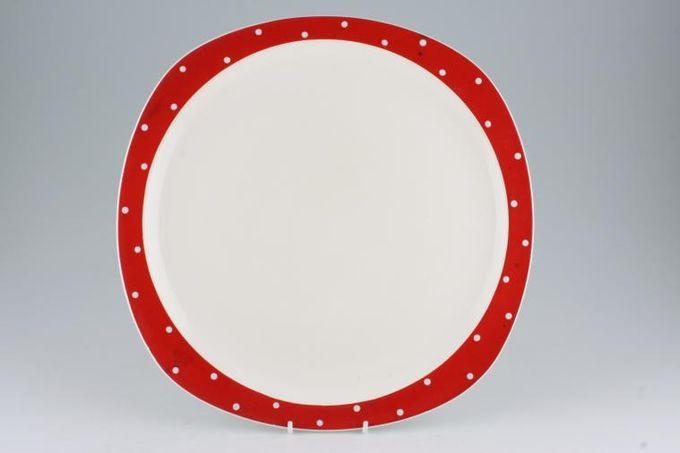 "Midwinter Red Domino Platter Round 12 1/8"""