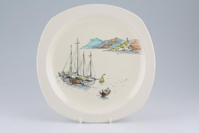 "Midwinter Riviera Breakfast / Salad / Luncheon Plate 8 3/4"""