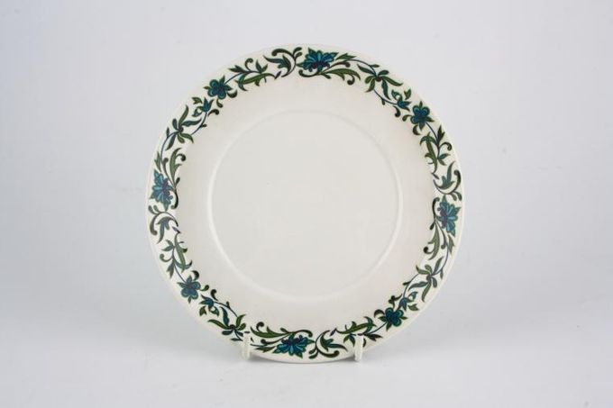 """Midwinter Spanish Garden Soup Cup Saucer Can be used as a sauce boat stand for round handled boat. 6 1/2"""""""