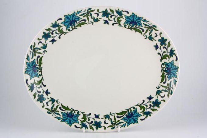 "Midwinter Spanish Garden Oval Plate / Platter 13 5/8"""