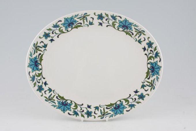 "Midwinter Spanish Garden Oval Plate / Platter 14"""