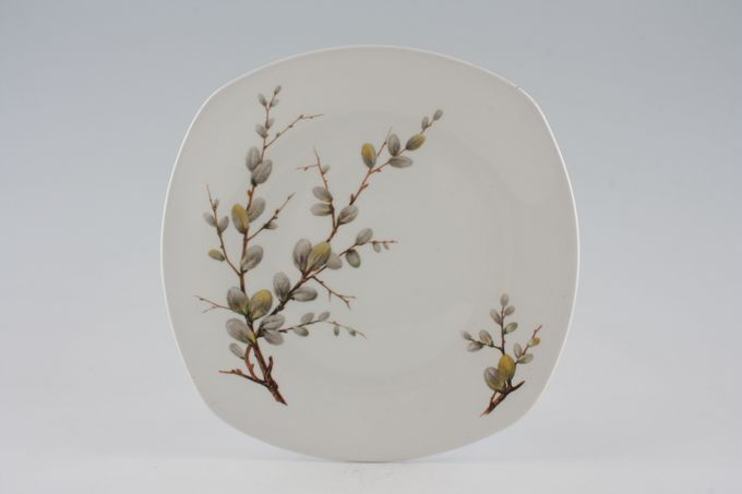 "Midwinter Spring Willow Starter / Salad / Dessert Plate square 7 1/2"""
