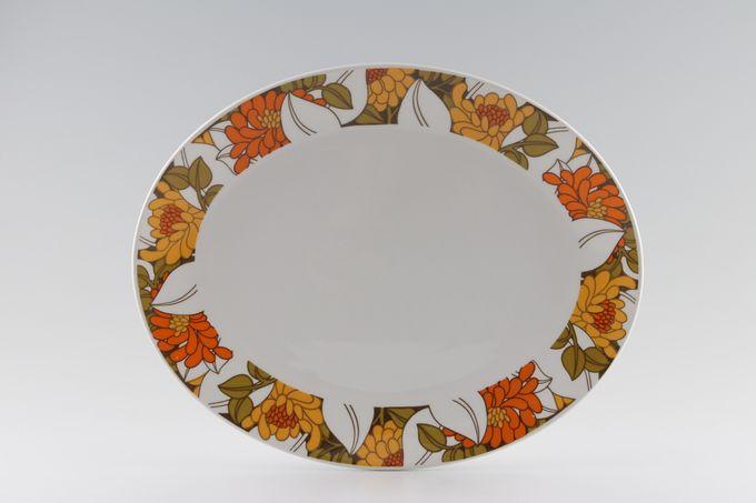 "Midwinter Tango Oval Plate / Platter 12"""