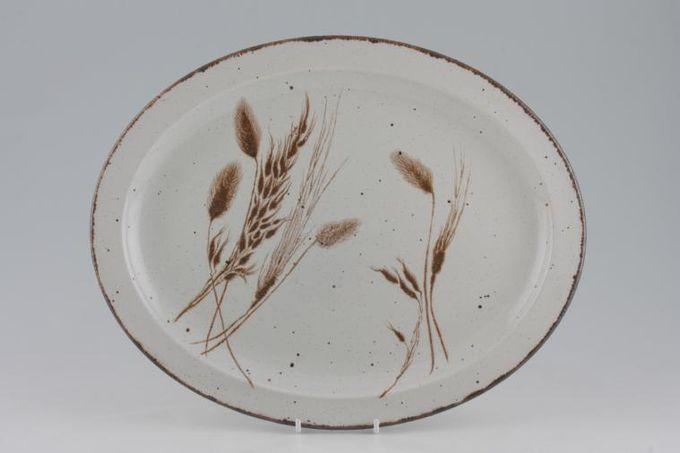 """Midwinter Wild Oats Oval Plate / Platter 13 1/2"""""""