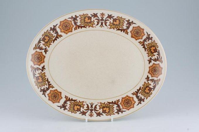 "Midwinter Woodland Oval Plate / Platter 12"""
