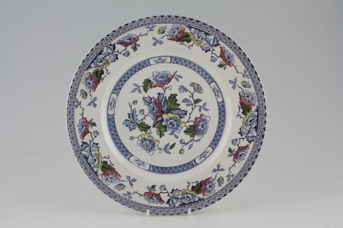 "Midwinter Blue Jacobean Breakfast / Salad / Luncheon Plate 8 7/8"""