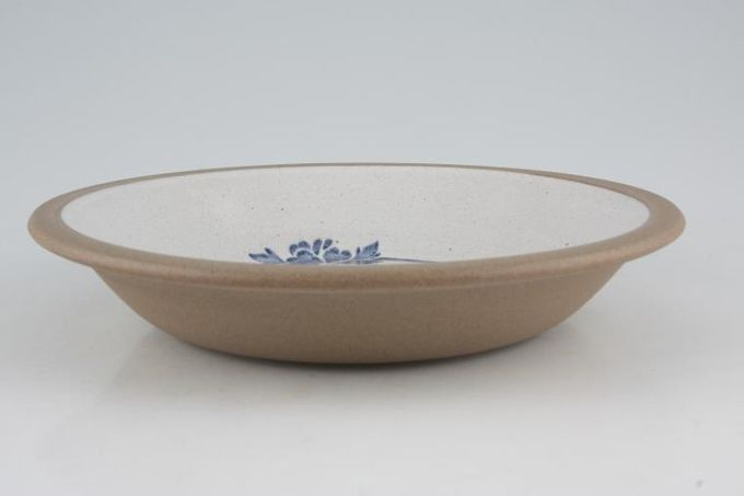 "Midwinter Blue Print Rimmed Bowl 8 3/8"""