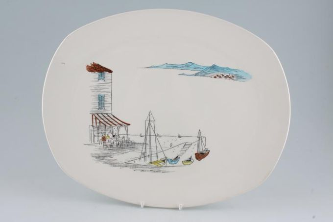 """Midwinter Cannes Oval Plate / Platter 13 3/4"""""""