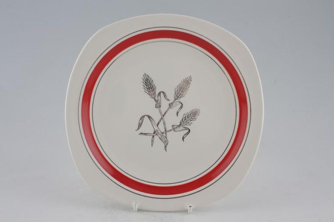Midwinter Silver Wheat - Red Breakfast / Salad / Luncheon Plate 8 3/4""