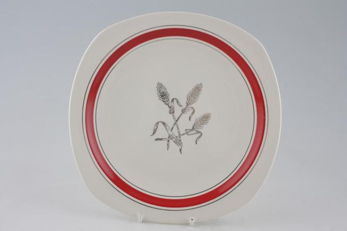 """Midwinter Silver Wheat - Red Dinner Plate 9 3/4"""""""