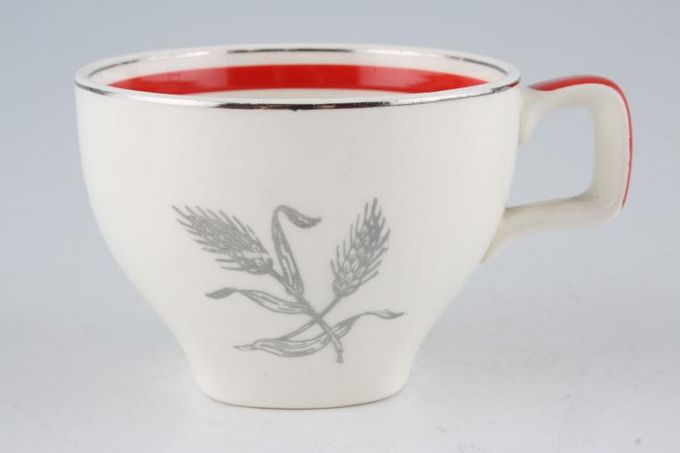 """Midwinter Silver Wheat - Red Coffee Cup 3 1/8 x 2 1/4"""""""