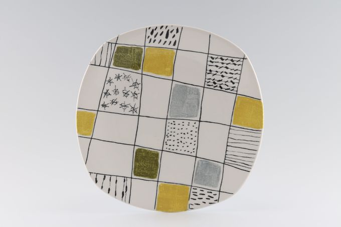 """Midwinter Chequers Breakfast / Salad / Luncheon Plate Square 8 3/4"""""""