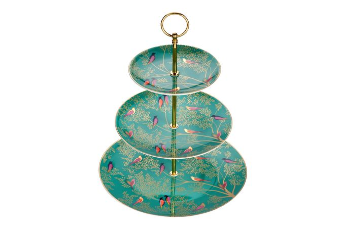 Sara Miller London for Portmeirion Chelsea Collection 3 Tier Cake Stand 27cm, 20cm, 15cm