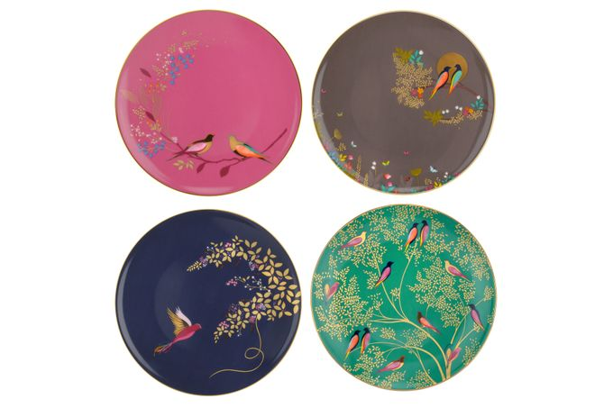 Sara Miller London for Portmeirion Chelsea Collection Side Plate - Set of 4 20cm