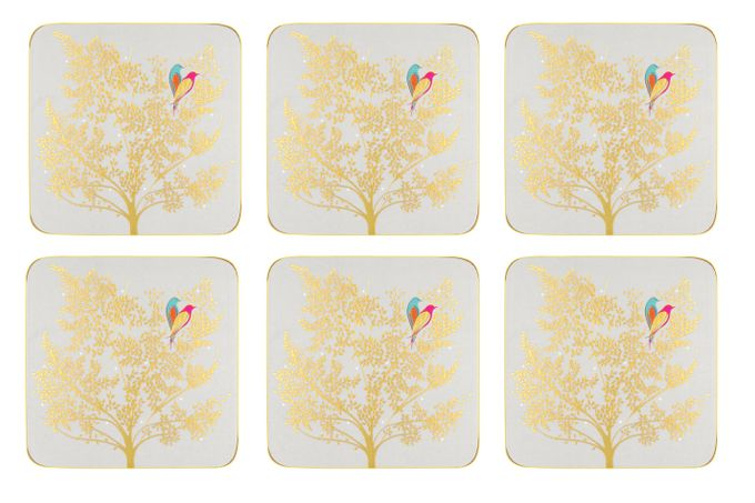 Sara Miller London for Portmeirion Chelsea Collection Coasters - Set of 6 Light Grey