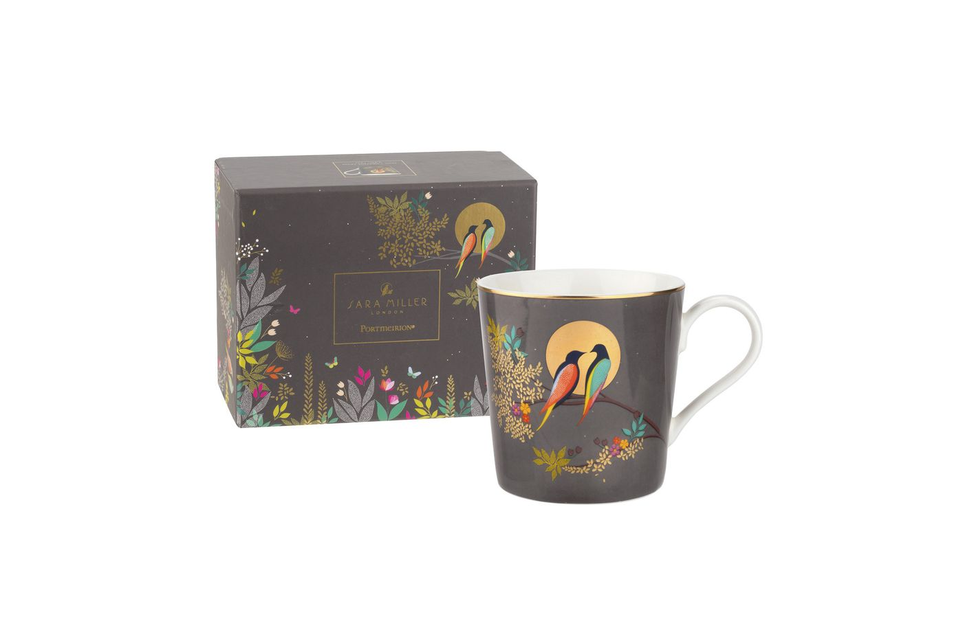 Sara Miller London for Portmeirion Chelsea Collection Mug Dark Grey 0.34l thumb 2