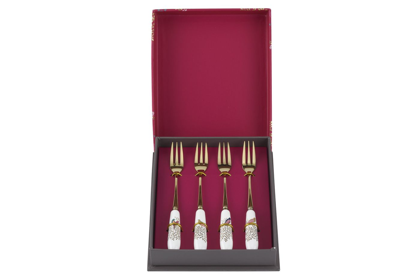 Sara Miller London for Portmeirion Chelsea Collection Pastry Fork Set Set of 4 15cm thumb 2