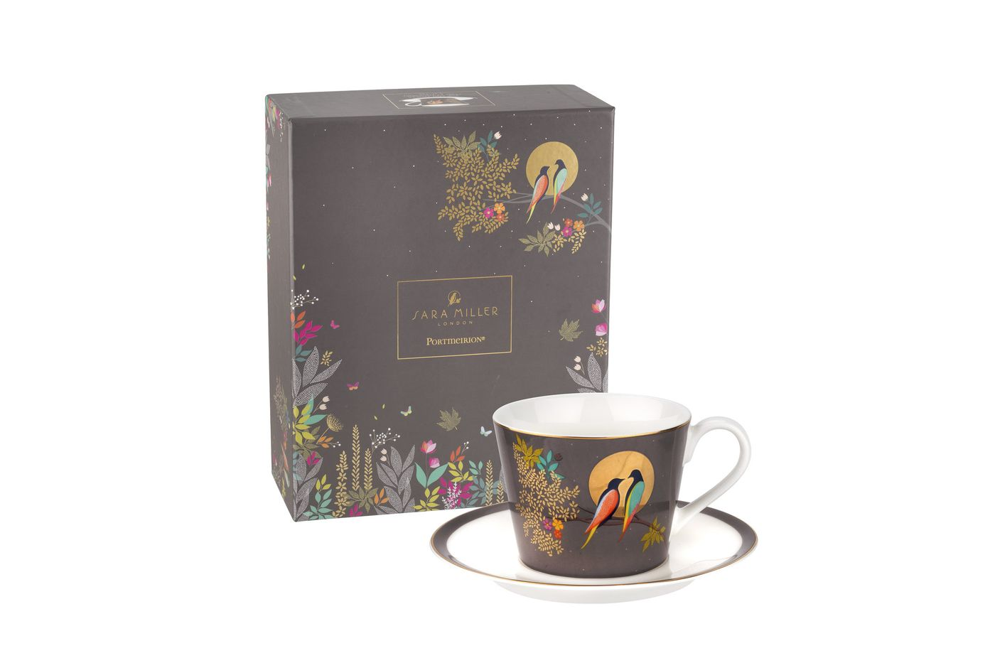 Sara Miller London for Portmeirion Chelsea Collection Teacup & Saucer Dark Grey 0.2l thumb 2