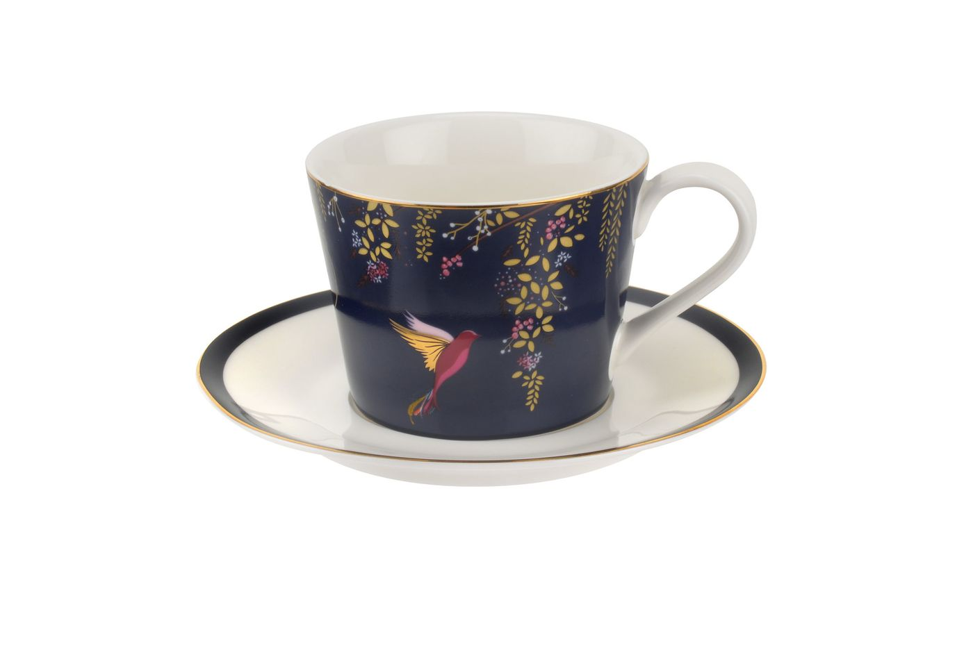 Sara Miller London for Portmeirion Chelsea Collection Teacup & Saucer Navy 0.2l thumb 1