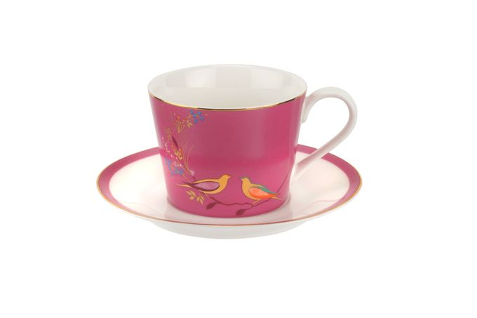 Sara Miller London for Portmeirion Chelsea Collection Teacup & Saucer Pink 0.2l