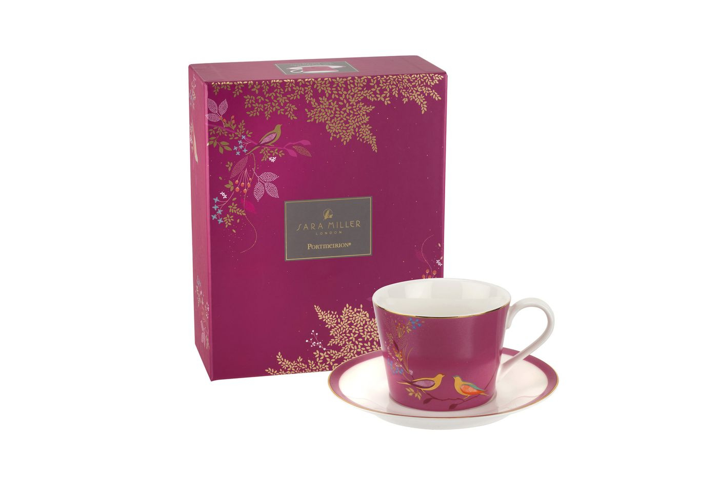 Sara Miller London for Portmeirion Chelsea Collection Teacup & Saucer Pink 0.2l thumb 2