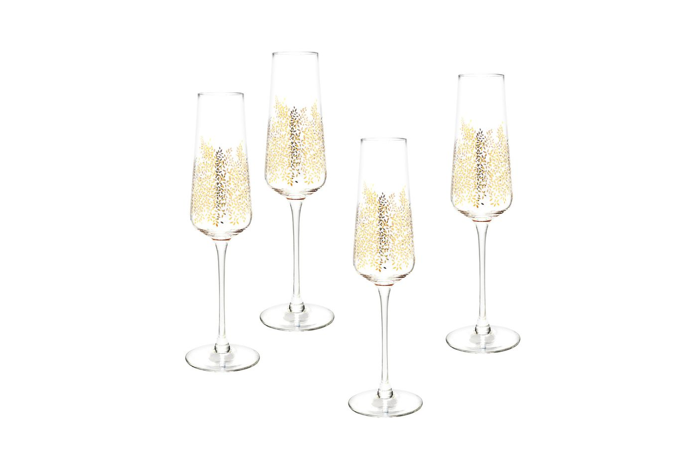 Sara Miller London for Portmeirion Chelsea Collection Set of 4 Flutes Chelsea Gold Leaf 0.44l thumb 1