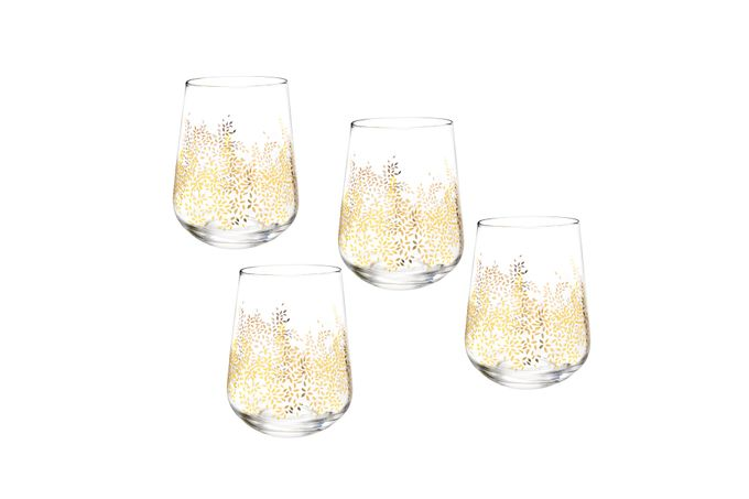 Sara Miller London for Portmeirion Chelsea Collection Set of 4 Wine Glasses Stemless