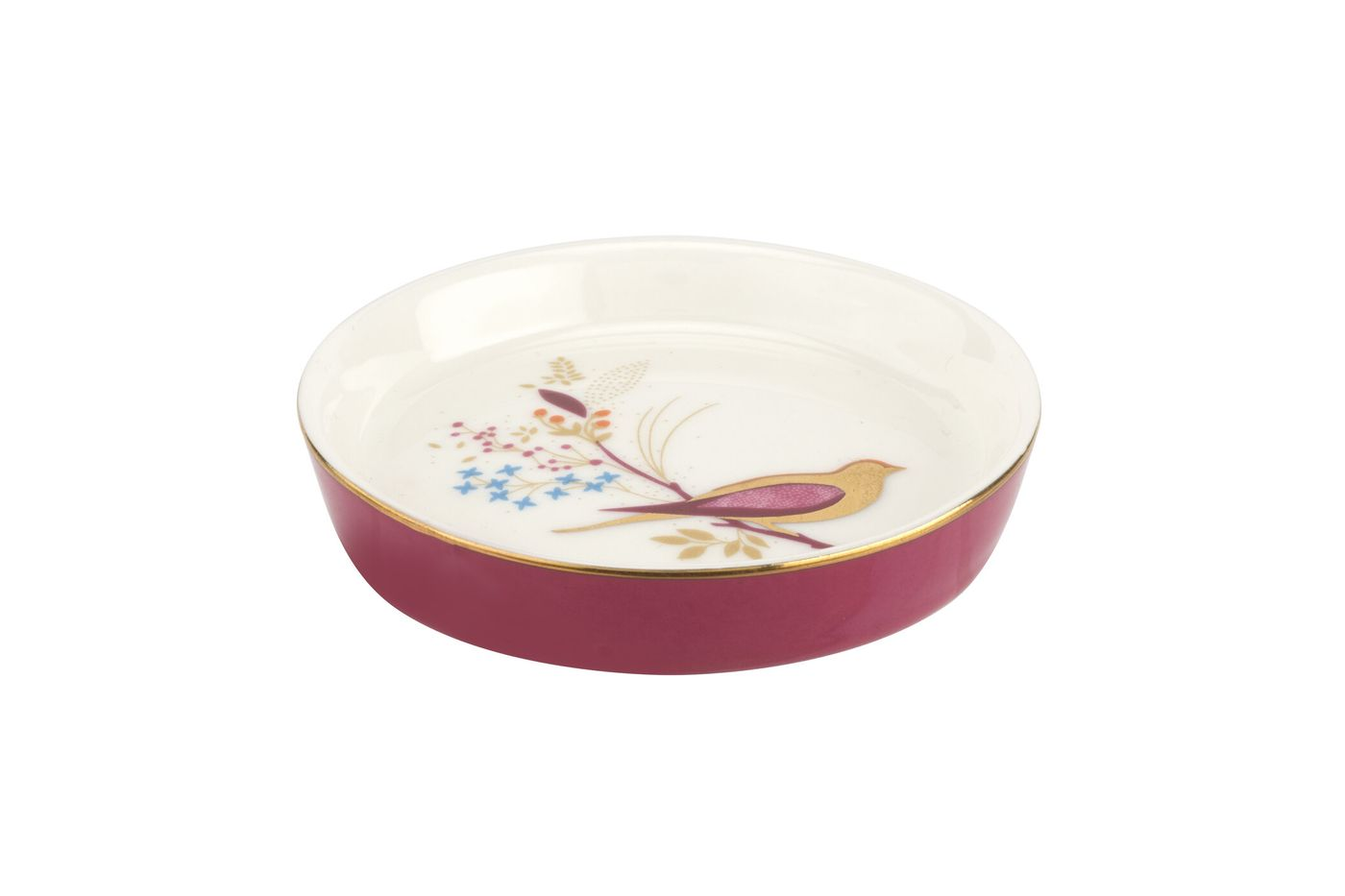 Sara Miller London for Portmeirion Chelsea Collection Small Dish Pink 7.5cm thumb 1