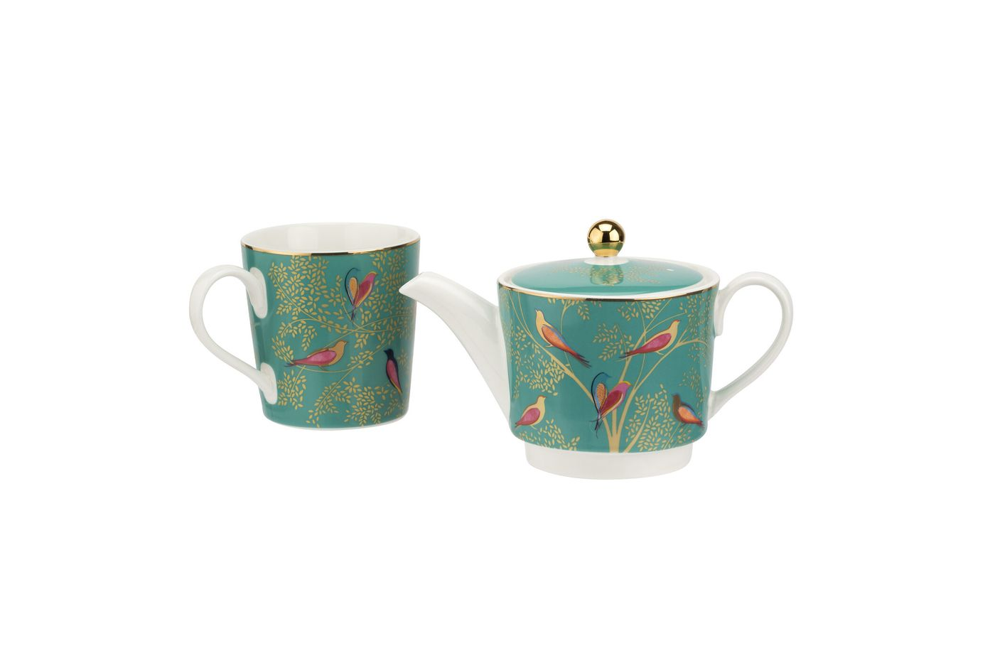 Sara Miller London for Portmeirion Chelsea Collection Tea For One Green 0.35l thumb 3