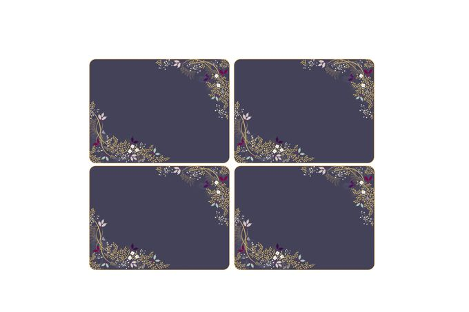 Sara Miller London for Portmeirion Garland Collection Placemats - Set of 4 23 x 30.5cm
