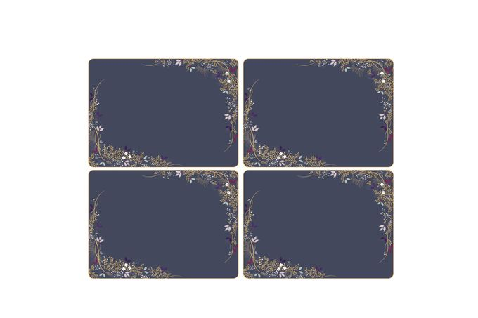 Sara Miller London for Portmeirion Garland Collection Placemats - Set of 4 40.1 x 29.8cm