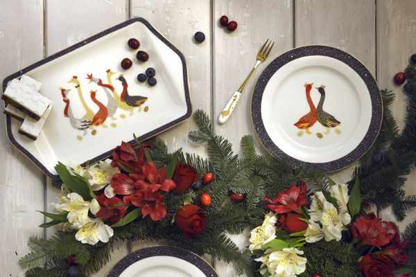 Sara Miller London for Portmeirion Geese Christmas Collection