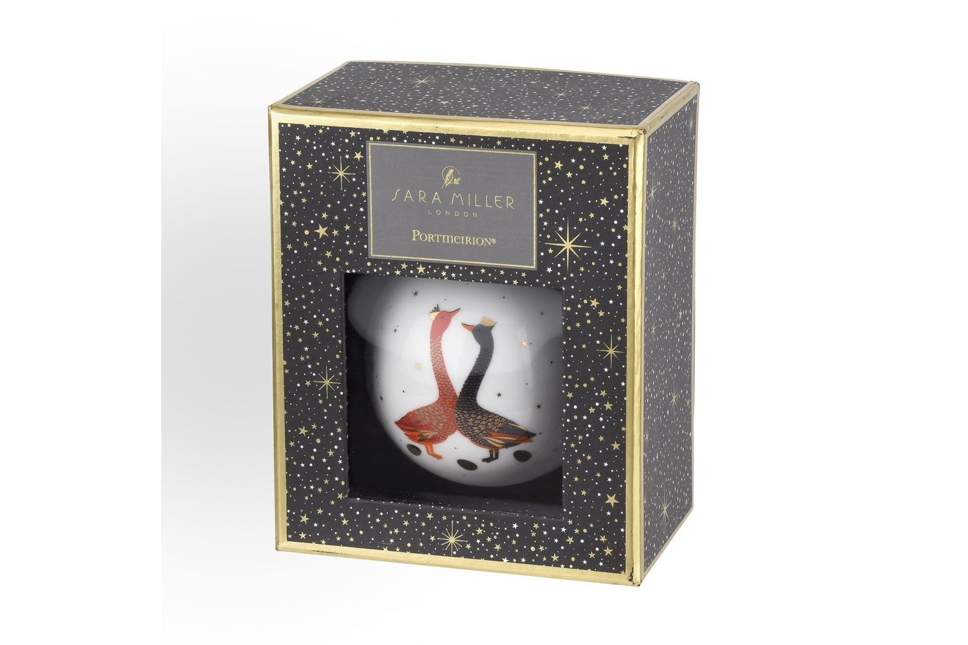 Sara Miller London for Portmeirion Geese Christmas Collection Bauble Red & Blue Geese thumb 2