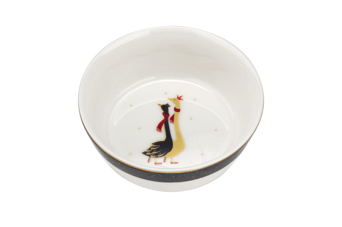 Sara Miller London for Portmeirion Geese Christmas Collection Set of 2 Bowls 10cm thumb 4