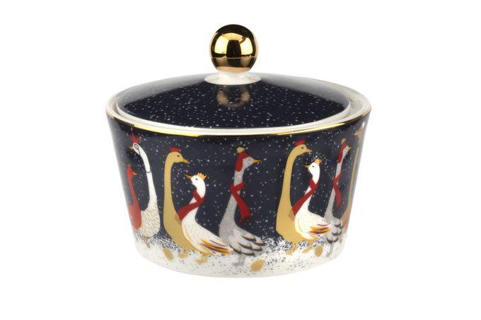 Sara Miller London for Portmeirion Geese Christmas Collection Sugar Bowl - Lidded (Tea)