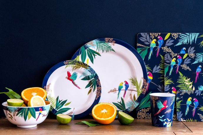 Sara Miller London for Portmeirion The Parrot Collection