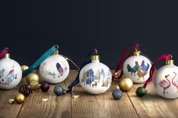 Sara Miller London for Portmeirion Ceramic Christmas Decorations