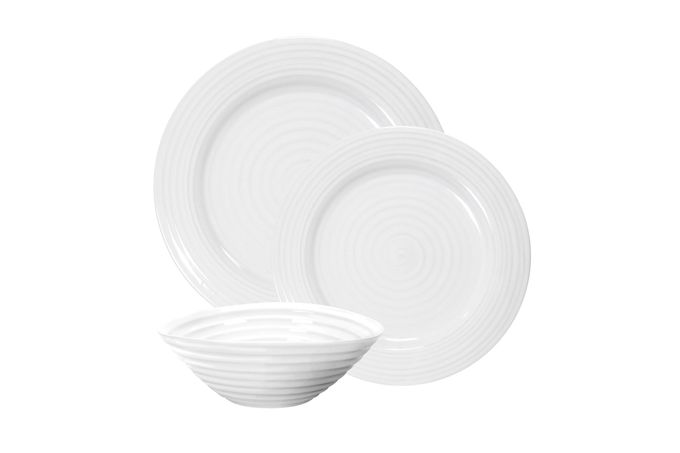 Sophie Conran for Portmeirion White 12 Piece Set 4 x Plate (28cm), 4 x Plate (20cm), 4 x Bowl (19cm)