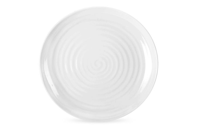Sophie Conran for Portmeirion White Plate Round Coupe Buffet Plate. Single 22cm